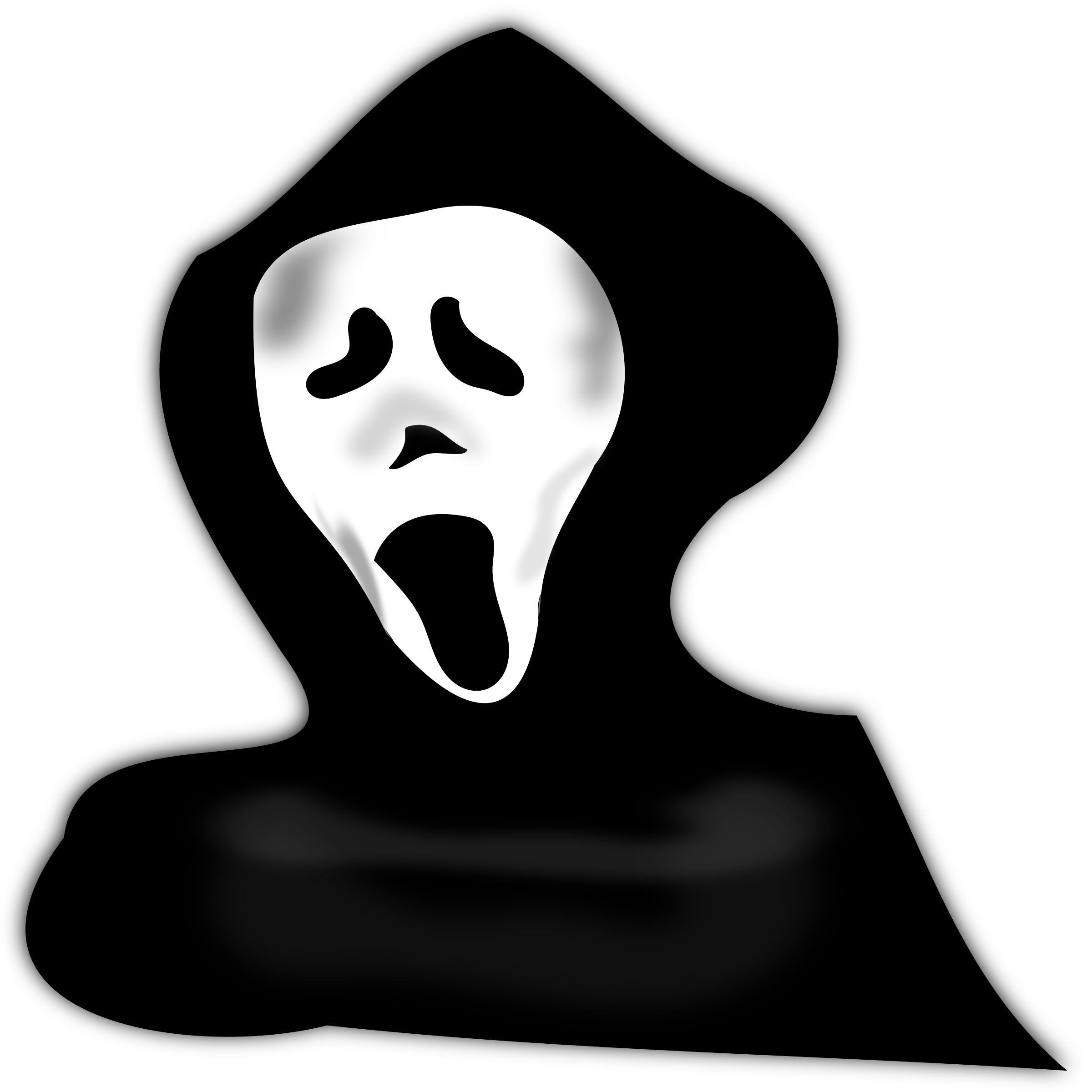image freeuse library Ghost under hood big. Mask clipart ghostface.