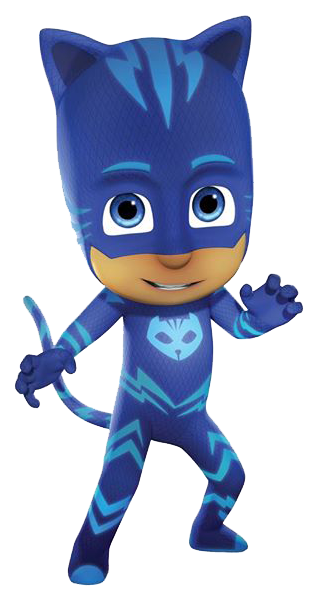 vector black and white library PJ Masks Catboy Symbol Of