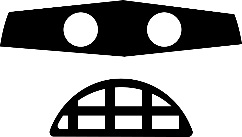 clip art freeuse library Emoticon Rounded Square Criminal Face With Covered Eyes With A Mask