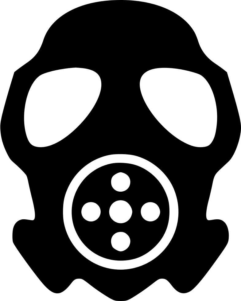 clip art transparent stock Gas Mask Attack Face Svg Png Icon Free Download