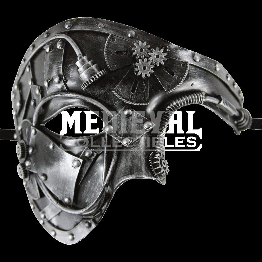 clip library Silver Steampunk Phantom Mask