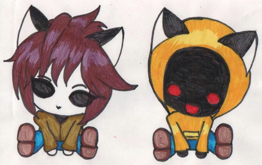 clipart free My drawing of hoodie and masky