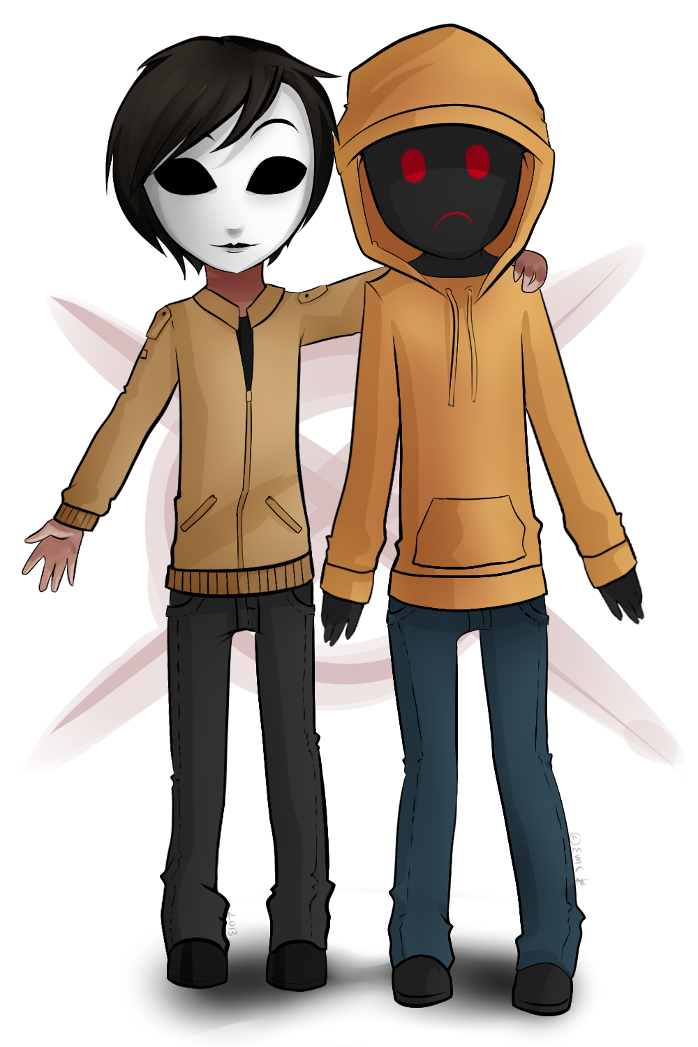 clipart royalty free stock Masky and Hoodie Proxies