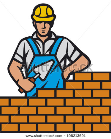image library stock Mason clipart worker. Station .