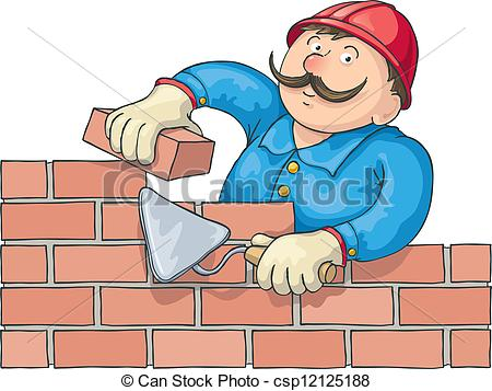 graphic freeuse stock Station . Mason clipart worker.
