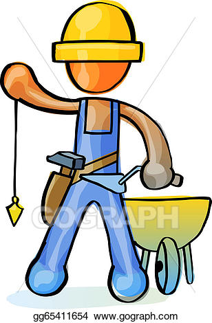 png royalty free Vector art at work. Mason clipart worker.