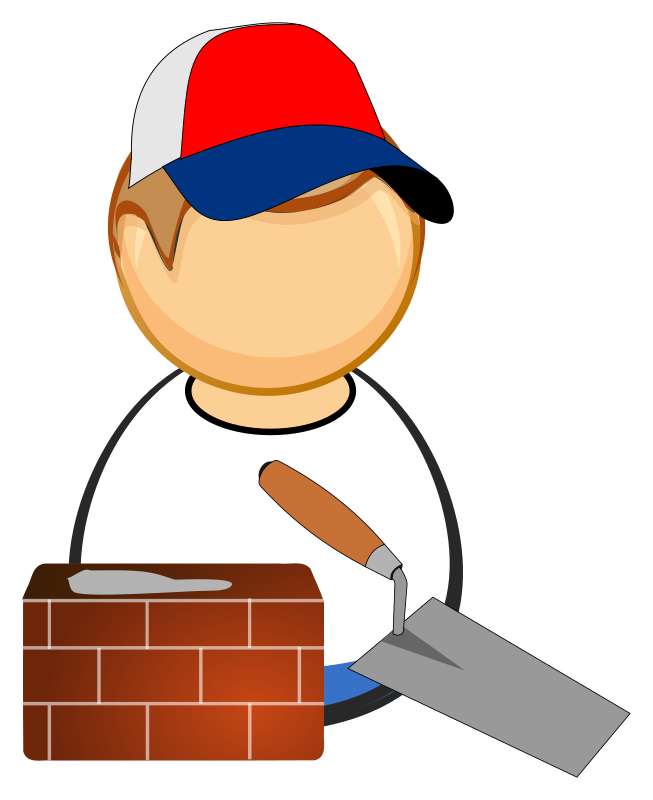 graphic royalty free download Bricklayer medium image png. Mason clipart worker.