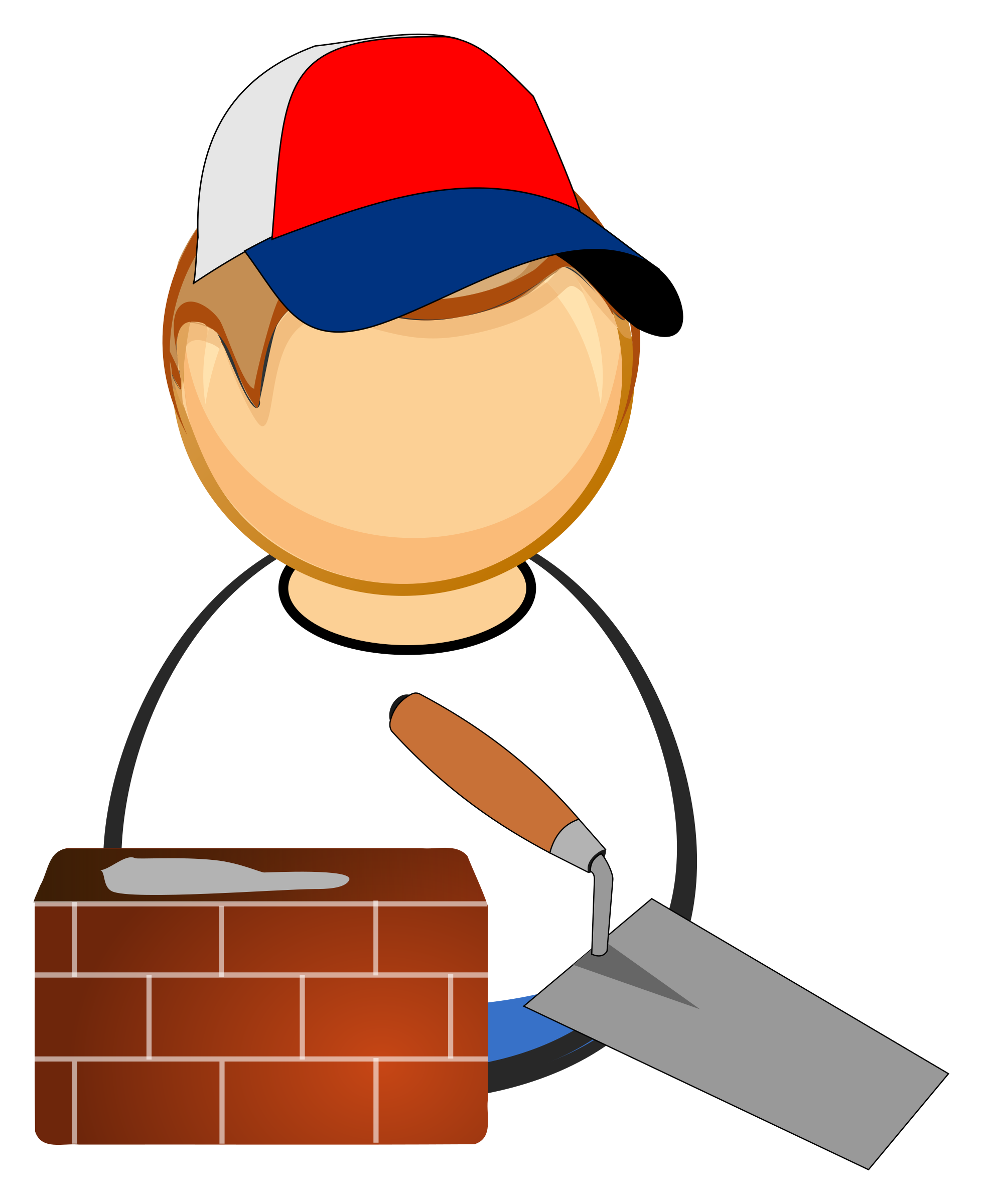 vector transparent download Bricklayer big image png. Mason clipart.