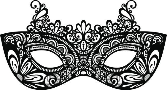 clip library library Cliparts mask template . Masquerade clipart.