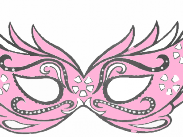 vector black and white stock Masquerade Clipart