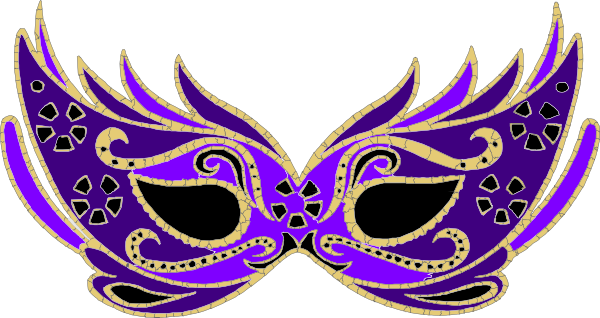 banner free library Purple Masquerade Mask Clip Art at Clker