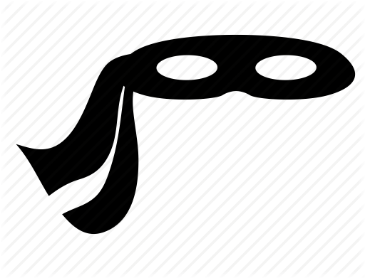 vector transparent library Masquerade clipart black and white. Image mask ninja png.
