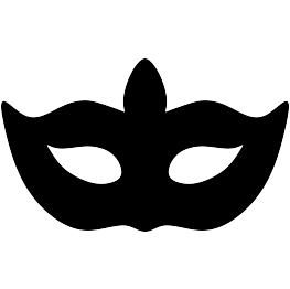 image freeuse library Mask silhouette at getdrawings. Masquerade clipart black and white.