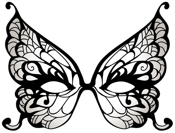 png stock Transparent psp tubes mask. Masquerade clipart black and white.