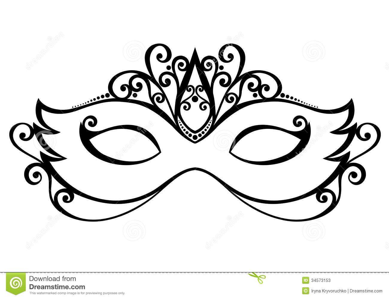 banner stock Masquerade clipart black and white. Mask portal .