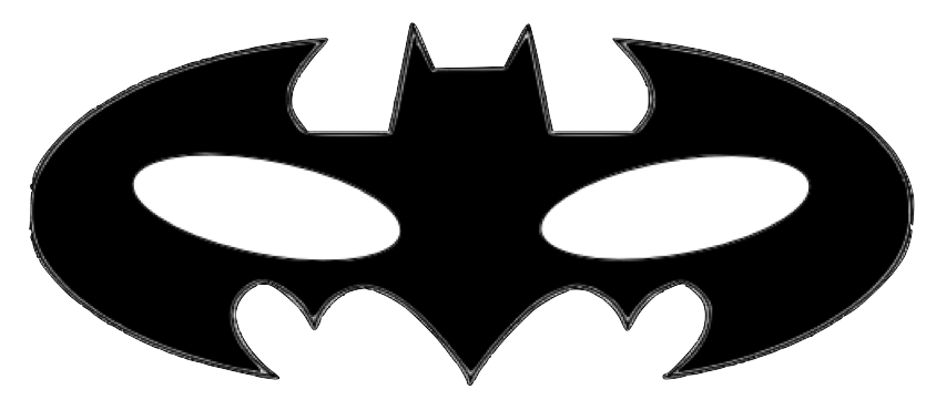 clip free Superhero cape clipart black and white. Super hero mask template