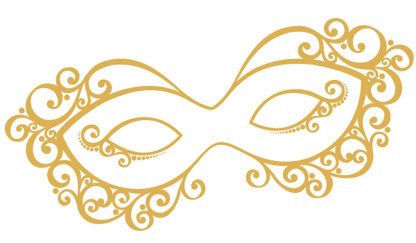 clipart library  collection of gold. Masquerade clipart golden.