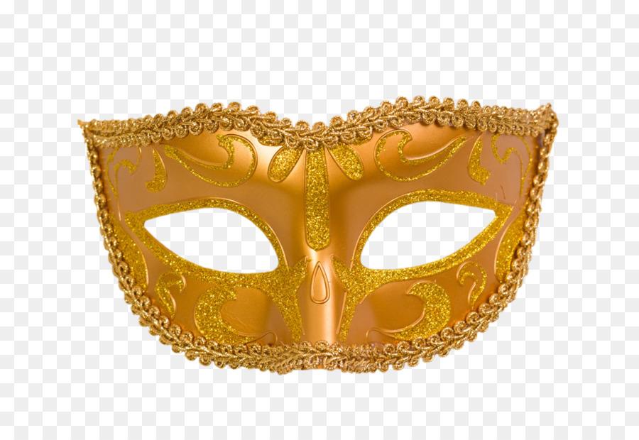 transparent stock Gold mask png download. Masquerade clipart golden.