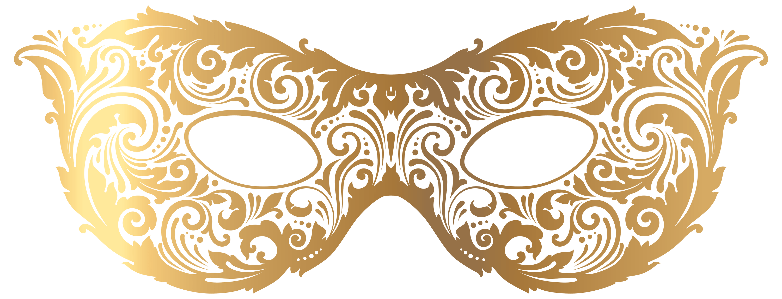 download Gold Carnival Mask transparent PNG