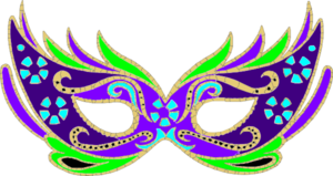 png black and white download Purple Green Blue Masquerade Mask