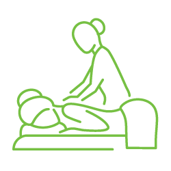 clipart black and white library Massage clipart therapeutic service. Home liz lopes therapy.