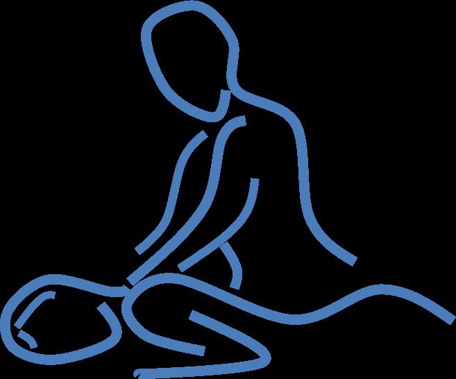 vector free library Massage line art medium. Massages clipart