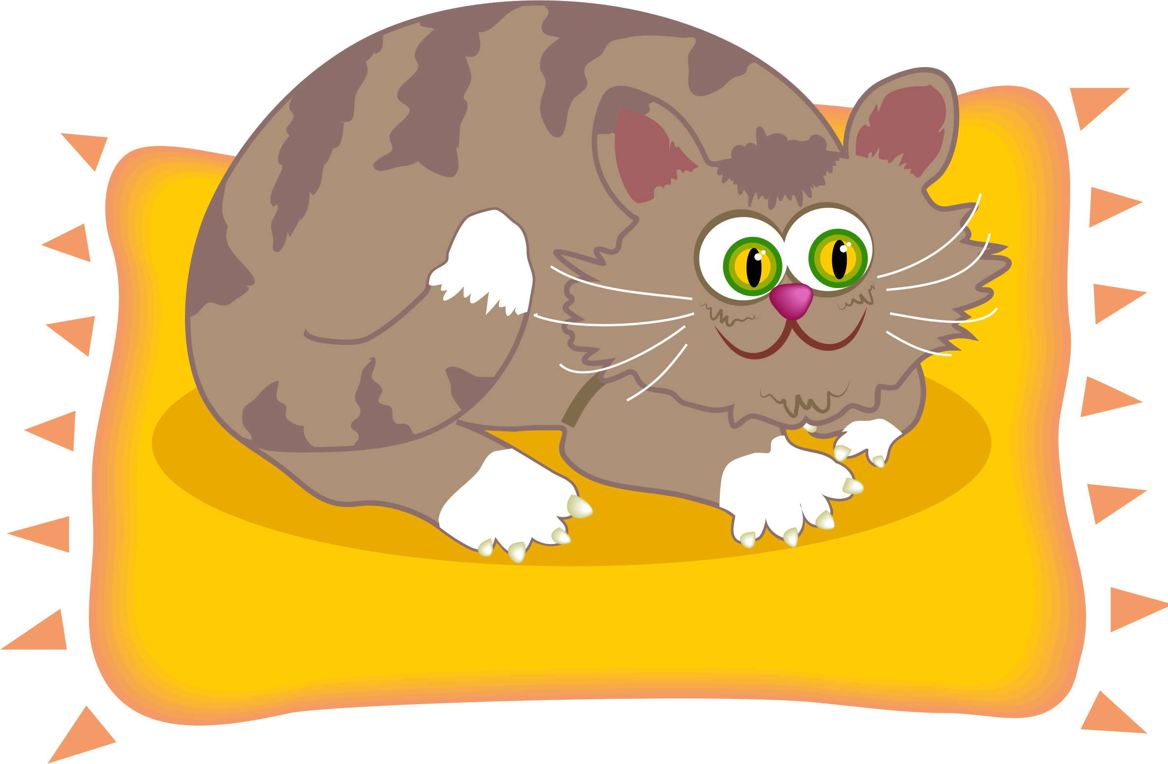 jpg royalty free library Cat on the of. Mat clipart cute.