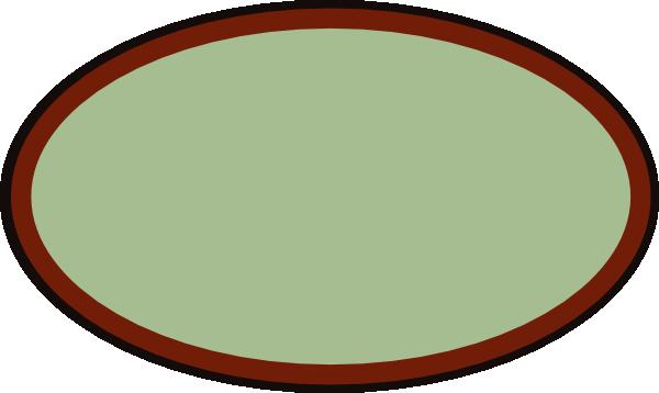 clip Brown Oval Frame clip art