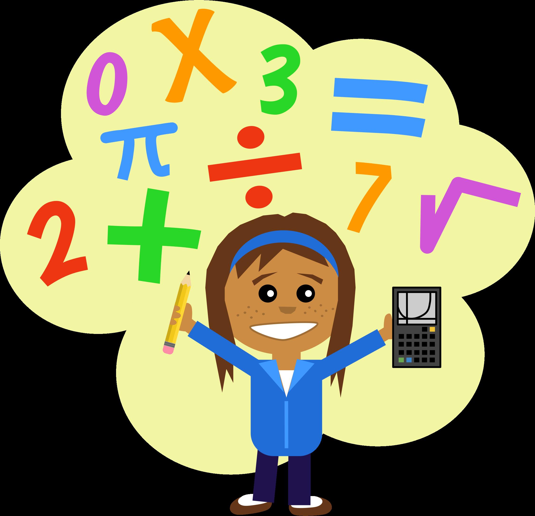 clip art transparent Math clipart. Extraordinary ideas girl clipartxtras.