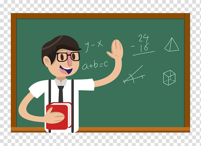 graphic free Illustration teachers day student. Math teacher clipart.