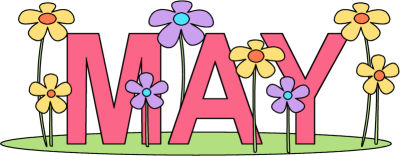 vector May clipart. Flowers borders birth month.