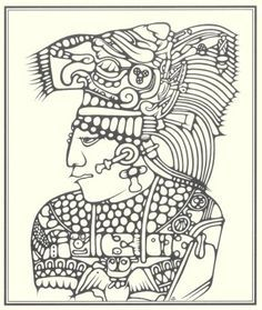 graphic free A line of piece. Mayan drawing