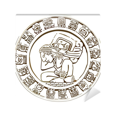 svg library library mayan icon Wall Mural