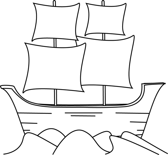 picture transparent stock Mayflower clipart black and white. Clip art image