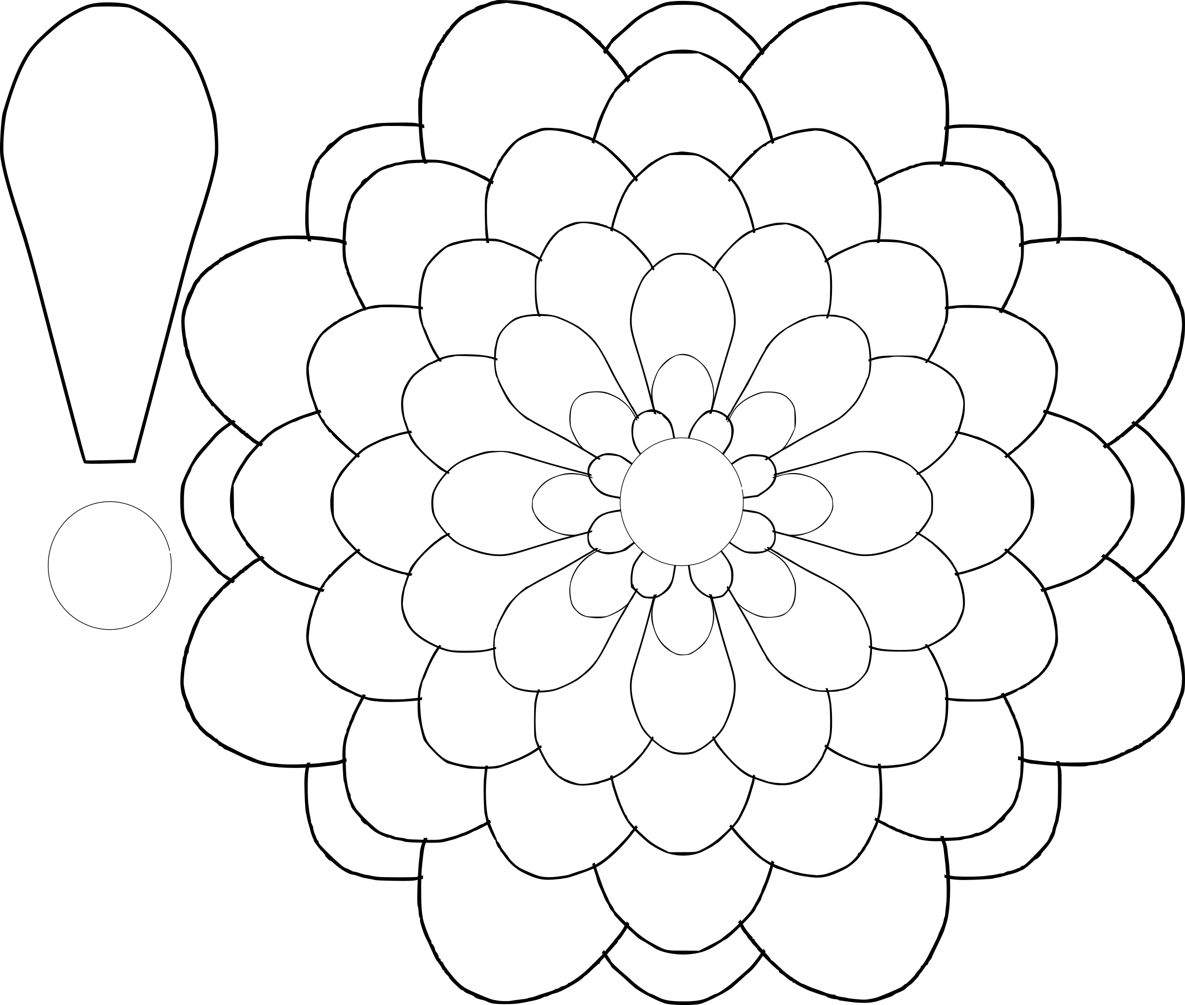 royalty free library Drawing template at getdrawings. Mayflower clipart colour flower.