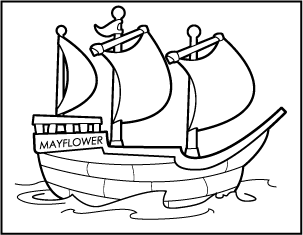 svg black and white library Mayflower Clipart Group