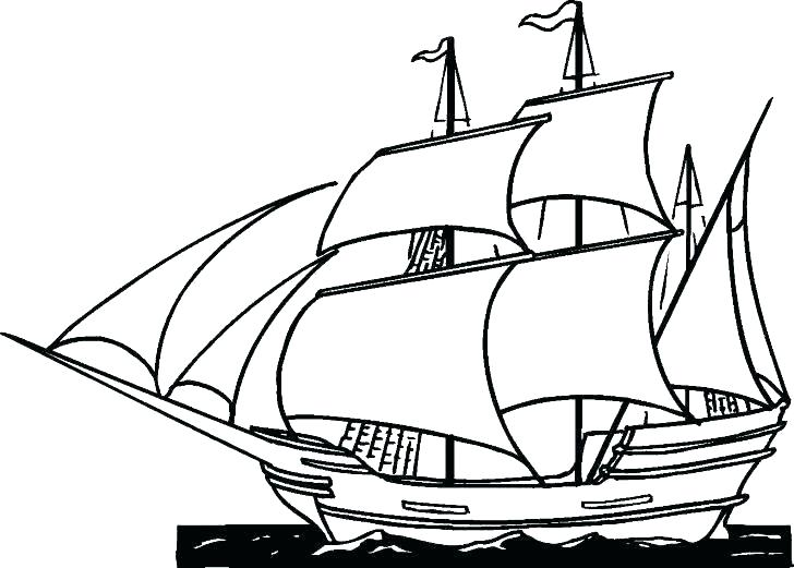 clip stock Mayflower Ship Drawing