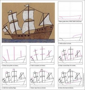 svg black and white download Draw a Mayflower Ship
