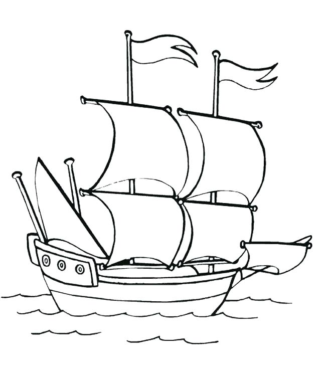 banner royalty free download Mayflower Ship Drawing at PaintingValley