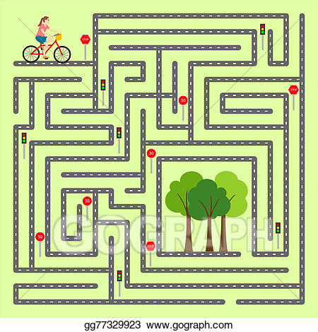 clipart black and white stock Maze clipart. Stock illustration find the