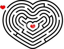 clipart free stock Maze clipart heart. Stock vectors me