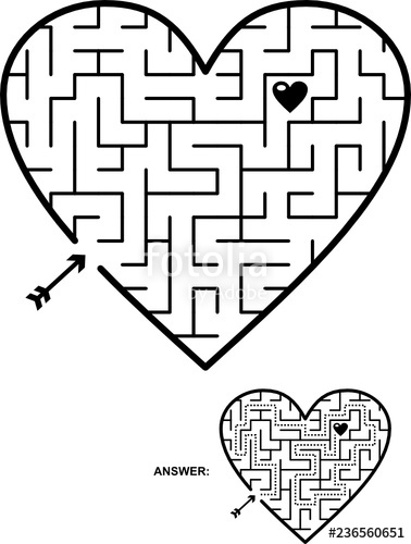 image transparent Maze clipart heart. Valentine s day wedding
