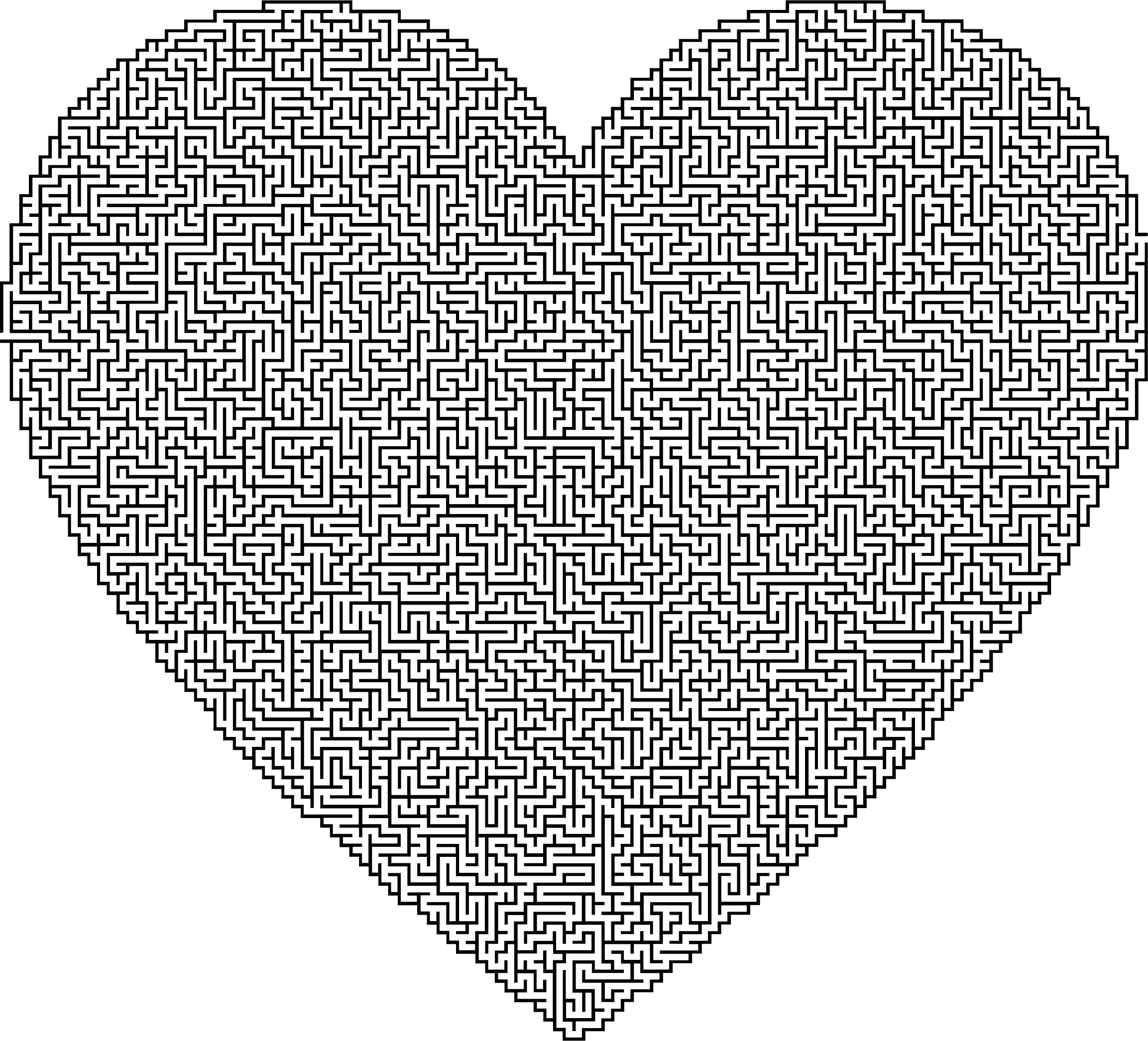 royalty free download Maze clipart heart. Big image png