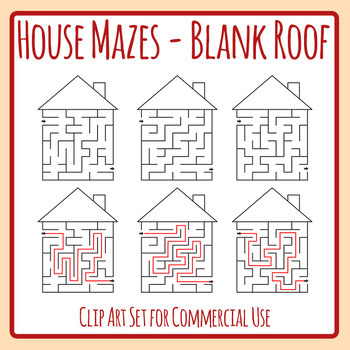 vector royalty free stock Maze clipart house. With blank roof and.