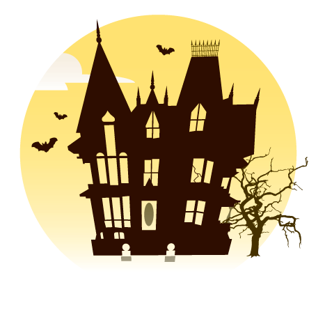 graphic black and white stock Haunted free on dumielauxepices. Maze clipart house.