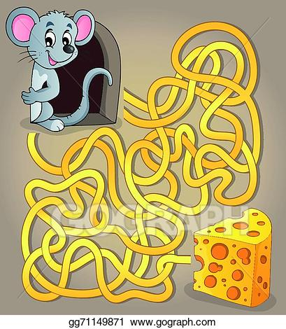 royalty free library Maze clipart mouse. Vector art with and.
