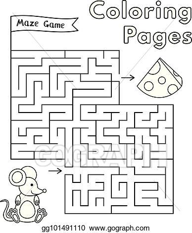 banner library Maze clipart mouse. Vector art cartoon game