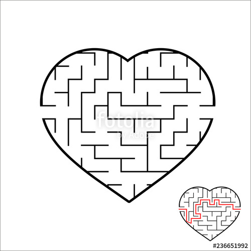 freeuse stock Abstract heart shaped labyrinth