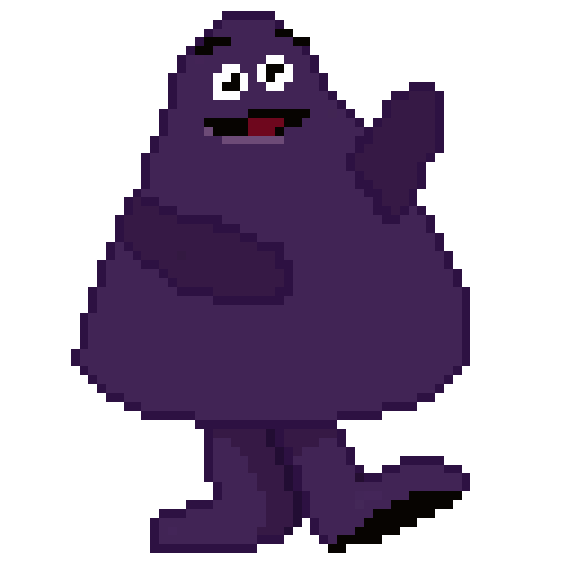 svg library Grimace by pokemon ogre. Mcdonalds clipart isometric.