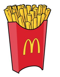 clipart royalty free library Mcdonalds clipart printable. Chips fry transparent .